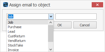 assign email object