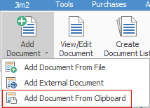 add doc from clipboard