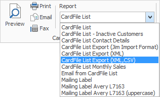export report to xml