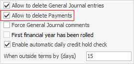 allow delete payment